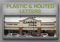 plastic and routed letters