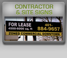 contractor and site signs
